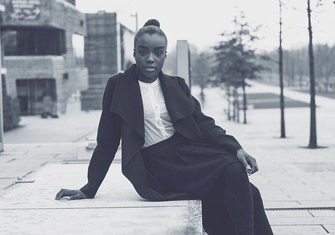 女子, 业务, 黑种人, 黑人美国, 时尚, 商界女强人, 肖像, 有信心