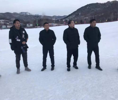 路敦庆到徂徕山滑雪场调研首届全民滑雪挑战赛准备工作